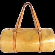Authentic LOUIS VUITTON Monogram Petent Leather Beige Vernis Bedford Handbag Bag