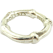 Authentic TIFFANY & CO Sterling Silver Bamboo Ring Size 4.5