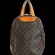 Authentic LOUIS VUITTON Monogram Canvas Leather Excursion Handbag Bag