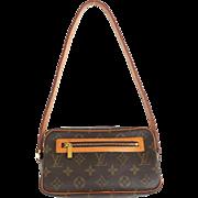 Authentic LOUIS VUITTON Monogram Canvas Leather Pochette Cite Small Shoulder Bag