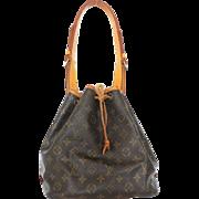 Authentic LOUIS VUITTON Monogram Canvas Leather Petit Noe Shoulder Bag