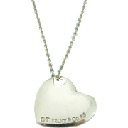 Authentic TIFFANY & CO Sterling Silver Two Hearts Pendant Necklace