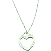 Authentic TIFFANY & CO Sterling Silver Sentimental Heart Pendant Necklace