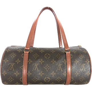 Authentic LOUIS VUITTON Monogram Canvas Leather Papillon 30 Handbag