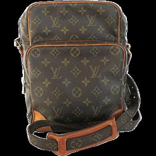 Authentic LOUIS VUITTON Monogram Canvas Leather Amazon Cross Body Bag