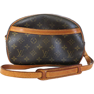 Authentic LOUIS VUITTON Monogram Canvas Leather Blois Cross Body Bag