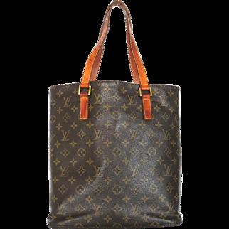 Authentic LOUIS VUITTON Monogram Canvas Leather Vavin GM Tote Shoulder Bag