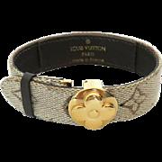 Authentic LOUIS VUITTON Monogram Khaki Canvas Bracelet
