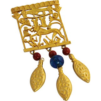 Egyptian Revival Statement Brooch