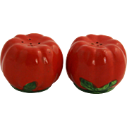 1950's JAPAN Majolica Tomato Salt & Pepper Shakers