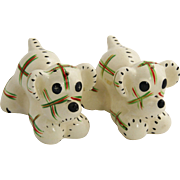 1950's Made In Japan Calico Dog Salt & Pepper Shakers