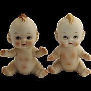 1950's LEGO JAPAN Bisque Angel Cherub Baby Salt & Pepper Shakers