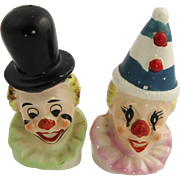 50's Japan Figural Clown Salt & Pepper Shakers