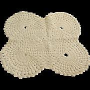 "Vintage Hand Crochet Doily 12"" x 11"""