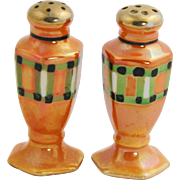 Art Deco Era Japan Lusterware Salt & pepper Shakers