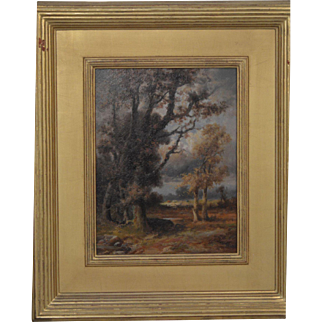Franklin D. Briscoe Landscape Oil Painting 1895