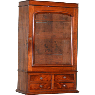 Walnut Display Cabnet 1850 - 70