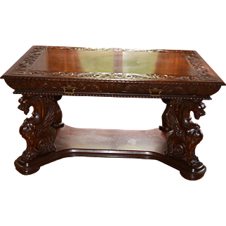Rare Finely Carved Table