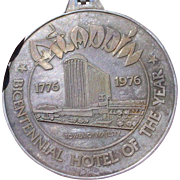 Aladdin Hotel Las Vegas Commemorative Medallion For Grand Reopening in 1976, .999 Fine Silver