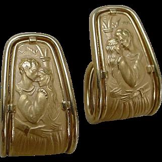 Beautiful Carrera y Carrera 18K Gold Earrings, Romeo & Juliet