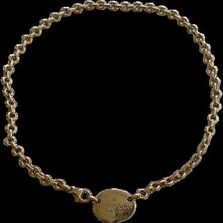 Tiffany & Co. 18K Gold Necklace - Please Return To Tiffany