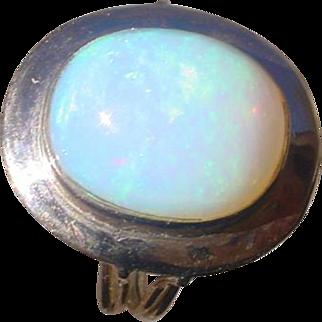Beautiful 14K Rose Gold Ring, 8 Carat Opal.