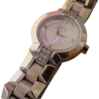 Concord La Scala 18k White Gold Ladies Watch w/ Diamonds.