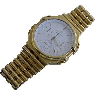 One Of The Rarest-Rare Jean Lassale Thalassa 18K Gold Chronograph.