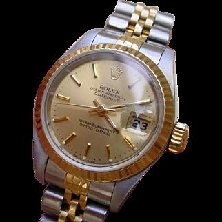 Rolex Datejust 79173 Ladies Model 18K Gold & Stainless Steel.