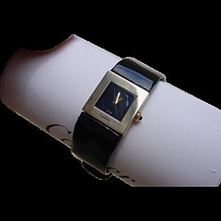 Chanel 18K Yellow Gold Matelassee Ladies Watch, Quartz Movement, Leather Band