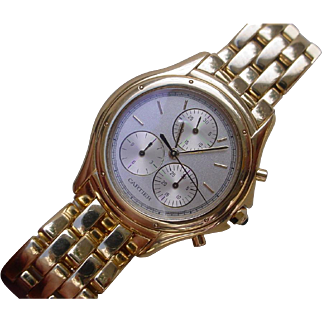 Beautiful and Rare 18K Gold Cartier Cougar Chronograph.