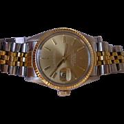 Rolex Datejust 16013, 18K/SS, Q.S. All Original Rolex With Rolex Box.