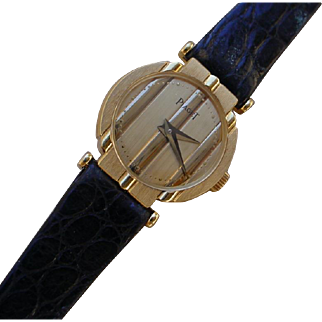 Ladies Piaget 18K Gold, Polo Case, Jeweled Quartz Movement