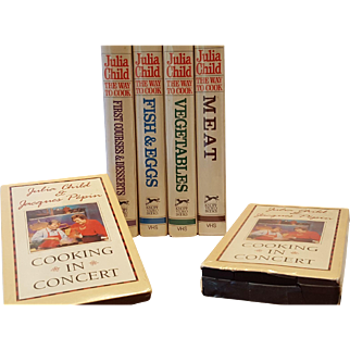 Vintage VHS collection Julia Child and Jacques Pepin The way to Cook and Cooking in Concert