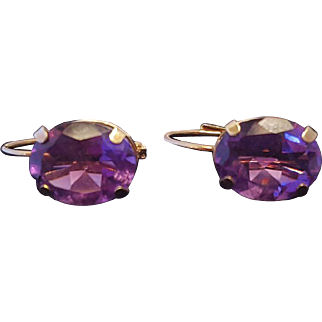 Beautiful  Amethyst Leverback Earrings