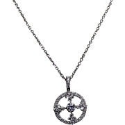 Exquisite High End Diamond Pendent, 18Kt and 14Kt Chain