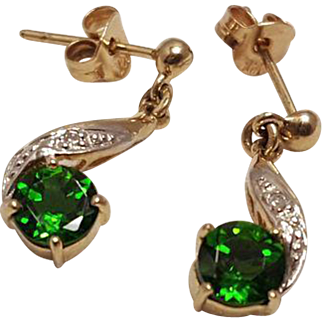 Vintage1 CTW Peridot Dangle Earrings