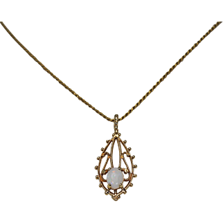 Filigree Opal Pendent
