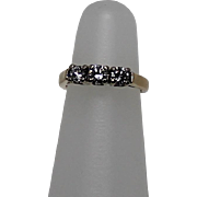 Three Stone Diamond Ring, .5 ctw 14Kt Yg Size 4.5