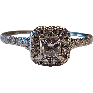 Hearts on Fire Transcend Dream Plat .72 CTW Diamond Ring Size 6