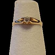 Dantiy Vintage Belcher Diamond Ring Size 5 1/2