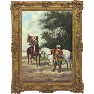 19th C. Oil on Canvas by H. Markham