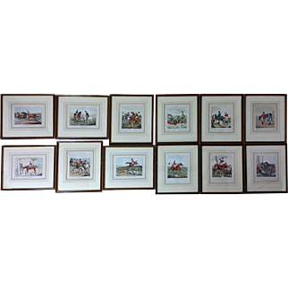 Set of 12 Early 19th C. Hand Coloured Prints after Henry Alken