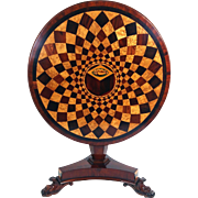 Early 19th Century Circular Mahogany Tilt-Top Table