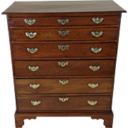 Rare George II Solid Apple wood Chest of Drawers
