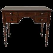 Regency Mahogany Kneehole Side Table
