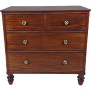 Regency Figured Mahogany Low Chest of Drawers