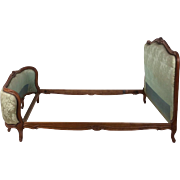 Late 19th C. French Carved Bedstead of Shaped Form