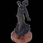 19th c. Spanish Bronze Figure of a Flamenco Dancer