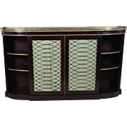 Regency Period Faux Rosewood Side Cabinet with Twin Brass Grill Doors